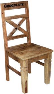 Sit Möbel Rustic Stuhl, 2er-Set L = 45 x B = 45 x H = 100 cm natur antik mit antikschwarzen Beschlägen