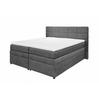 Boxspringbett Doppelbett Polsterbett mit Stauraum - Bettkasten TACOMA 1 180x200 cm anthrazit grau