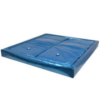 vidaXL Wasserbettmatratzen-Set mit Einlage + Trennwand, 200 x 220 cm F5