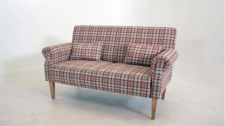 3-Sitzer Küchensofa 'Antoni', Stoff rot weiß kariert, 174 cm