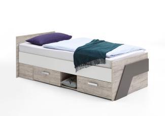 Storado 'Nuna' 4-tlg. Jugendzimmer-Set sandeiche weiss/lava denim