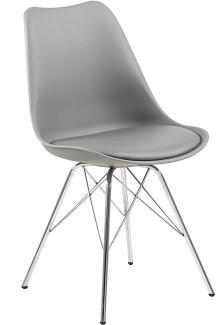 Stuhl ERIS, grau/Chrom