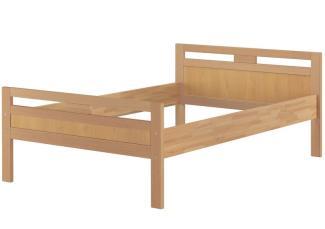 Erst-Holz Massivholzbett Seniorenbett Buche natur 120x200 Einzelbett Hohes Bett Komforthöhe 60. 74-12 oR