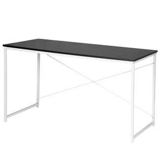 Schreibtisch mit Metallbeinen schwarz