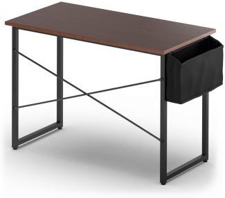 COSTWAY Schreibtisch mit Aufbewahrungsbeutel, Industrie- Stil, 102x51x76cm