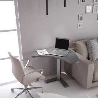 Home-Office - Lift-Stehtisch Beton
