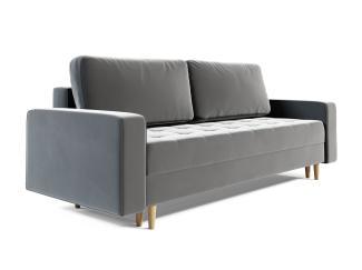 Sofa 3-Sitzer BELANO mit Schlaffunktion Hellgrau
