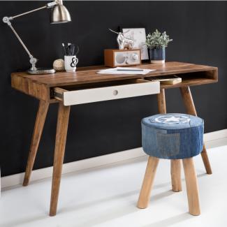 Schreibtisch RETRO 120 x 60 x 75 cm Massiv Holz Laptoptisch Sheesham