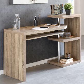 Design Schreibtisch MAURICE 145x50x94 cm Bürotisch mit Regal