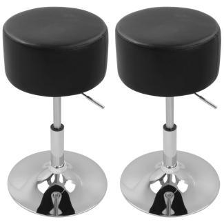 Höhenverstellbarer Barhocker (2er-Set) BH14 Serie schwarz