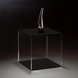Hochwertiger Acryl-Glas Würfel, klar / schwarz, 35 x 35 cm, H 35 cm, Acryl-Glas-Stärke 8 mm
