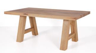Esstisch LYNN 220x100 cm Tisch in Balkeneiche massiv