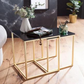 Satztisch 'KALA', MDF / Metall, Couchtisch Set aus 2 Tischen