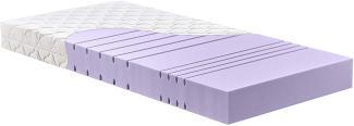 Betten-ABC KSP-1500 Deluxe Kaltschaummatratze mit komfortablen 7 Zonen und Klimafaserbezug : 70x200/H2