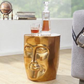 Beistelltisch MAKA 32,5 x 39 x 35 cm Aluminium Couchtisch orientalisch