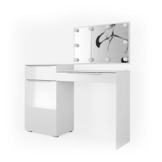 Vicco 'Little Lilli' Schminktisch, Weiß, inkl. LED-Lichterkette, mit Spiegel
