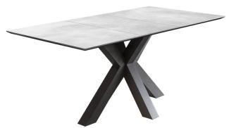 Esstisch Luzern Tisch graphit Keramikoptik hell 180 cm