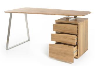 'Tori' Schreibtisch Asteiche teilmassiv 150 cm