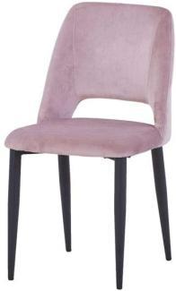 Sit Möbel Sit&Chairs Stuhl, 2er-Set L = 45 x B = 52 x H = 86 cm Gestell schwarz, Bezug rosa