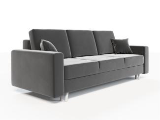 Sofa 3-Sitzer CARDE mit Schlaffunktion Grau