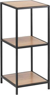 Standregal 'Seaford', Wildeiche / Metall schwarz, 37x82,5x35 cm