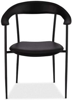 4 Esszimmerstühle Kammi Kunstleder schwarz