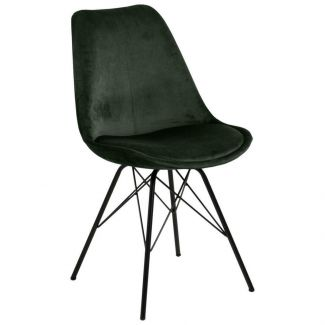 Stuhl ERIS, waldgrün/schwarz