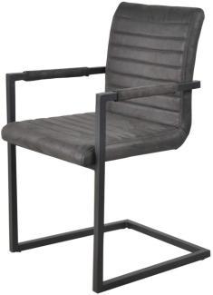 SIT&CHAIRS Armlehnstuhl Stahl Polyurethan Anthrazit