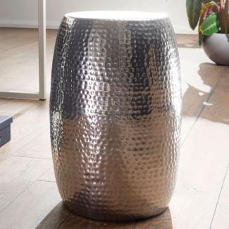 Beistelltisch PADRO 30 x 49,5 x 30 cm Aluminium Dekotisch orientalisch rund