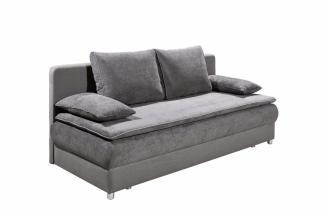 Schlafsofa SVENJA Sofa in grau Dauerschläfer mit Bettkasten