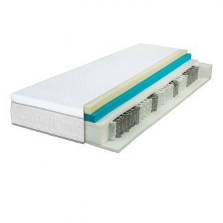 Wolkenwunder 'Perfect DUO' TFK Taschenfederkernmatratze inkl. integriertem Topper 120x200 cm, H2