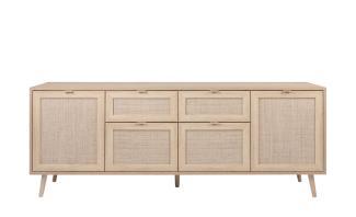 Sideboard BALI Sonoma Eiche Rafia Kommode 180 cm