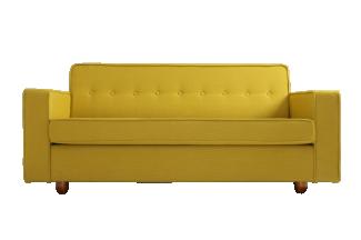 3-Sitzer Bettsofa 'Zugo', gelb