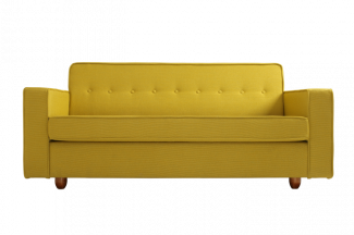 2-Sitzer Sofa 'Zugo', gelb