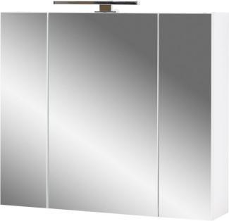 Spiegelschrank 'GW-PESCARA' mit LED-Beleuchtung, weiß