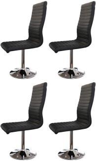 SalesFever Stuhl Esszimmerstuhl schwarz Kunstleder 4er Set Kunstleder, Metall L = 45 x B = 65 x H = 106 schwarz