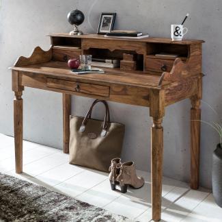 Schreibtisch Massivholz Konsole   Sekretär 115 x 100 x 60 cm mit 3 Schubladen und Fächern