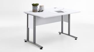 Schreibtisch 'CALVIA 1' in weiß mit Metallkufen 120x80 cm