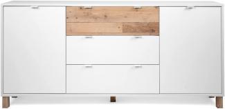 Sideboard Menorca weiß und Used Wood Shabby hell 180 x 86 cm