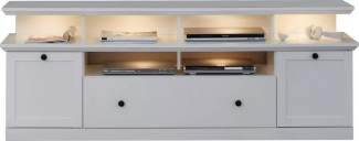 TV-Lowboard Baxter in weiß Landhaus 177 cm