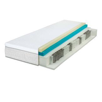 Wolkenwunder 'Perfect DUO' TFK Taschenfederkernmatratze inkl. integriertem Topper 200x200 cm, H2 | H2 Partnermatratze