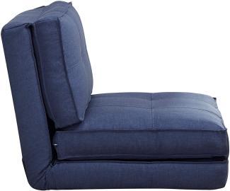 ARTDECO Schlafsessel groß, blau