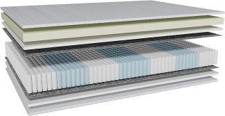 AM Qualitätsmatratzen 'Visco-Taschenfederkernmatratze', H3, 200x200 cm