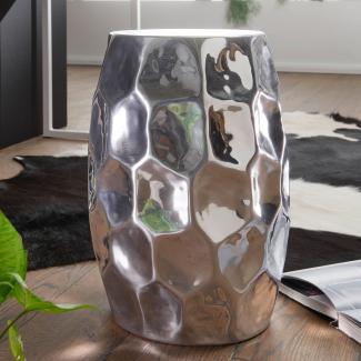 Beistelltisch YADA 30 x 47 x 30 cm Aluminium Dekotisch orientalisch rund