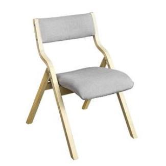 SoBuy Klappstuhl, Küchenstuhl, mit gepolsterter Sitzfläche und Lehne grau natur