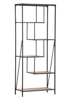 Regal ALCOTT, Holz/Metall, klappbar
