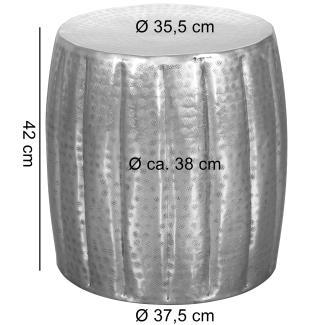 JAMALI' Beistelltisch 38 x 42 x 38 cm Aluminium orientalisch rund